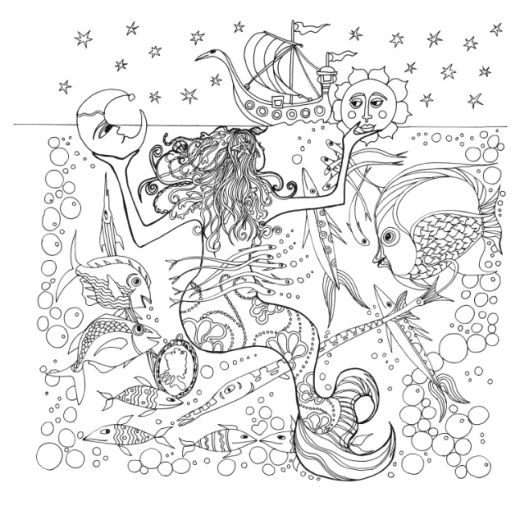 down the bay coloring pages | Tangle Bay Colouring In Pages - Free Card Making Downloads ...