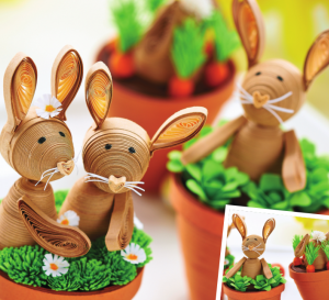 Mini Quilled Bunnies