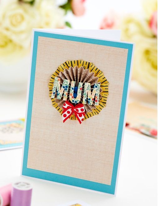 Simple Washi Tape Rosette Mother's Day Card
