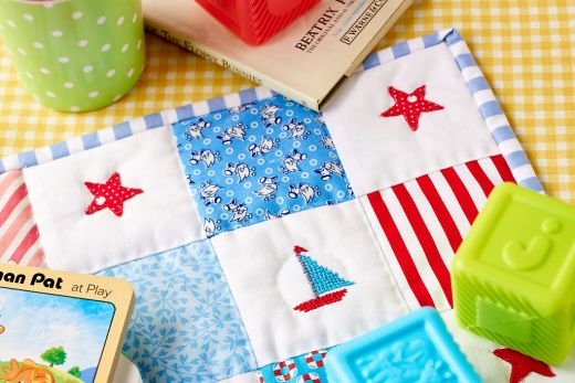 Nautical Doll's Quilt