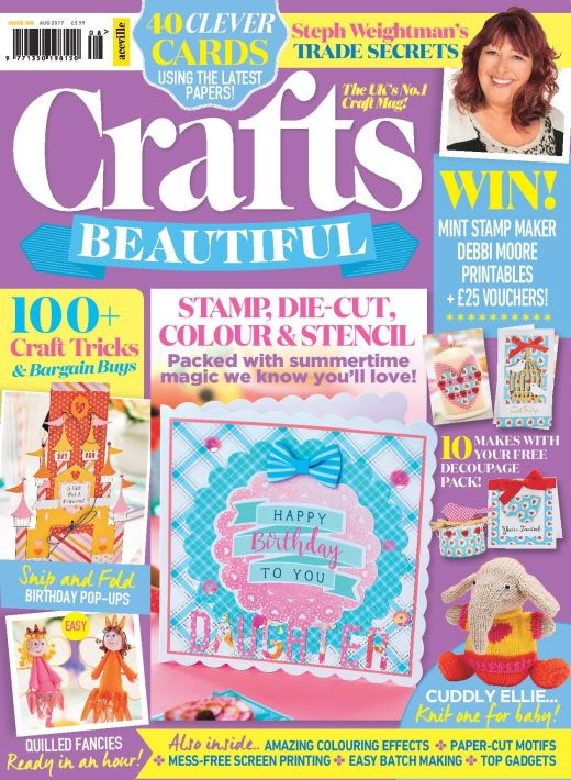 Crafts Beautiful August 2017 Issue 308 Template Pack