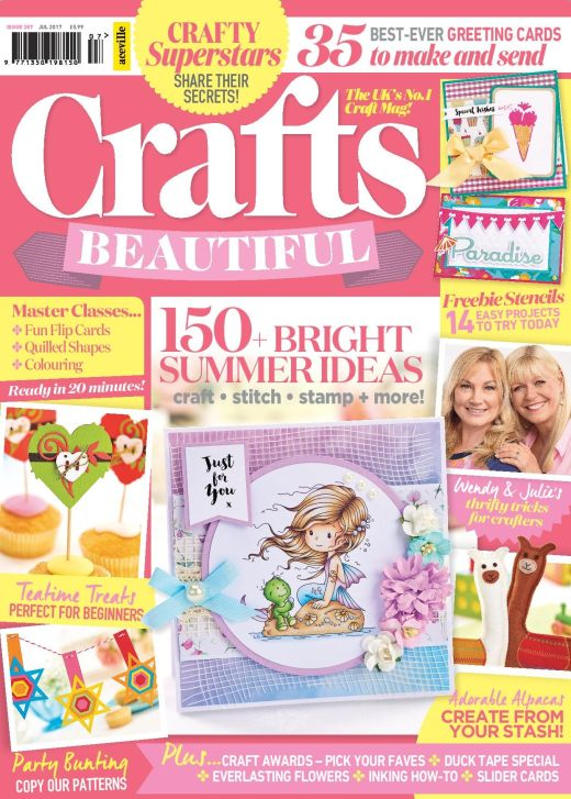 Crafts Beautiful July 2017 Issue 307 Template Pack