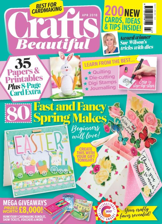 Crafts Beautiful April 2018 Issue 317 Template Pack