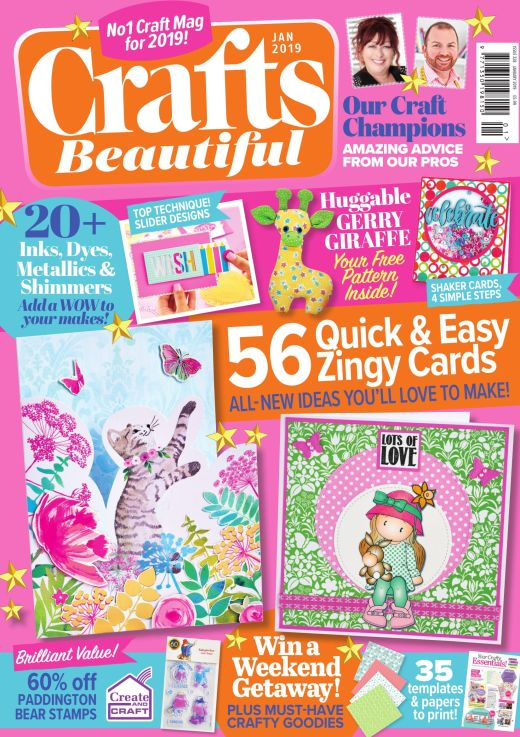 Crafts Beautiful January 2019 Issue 328 Template Pack