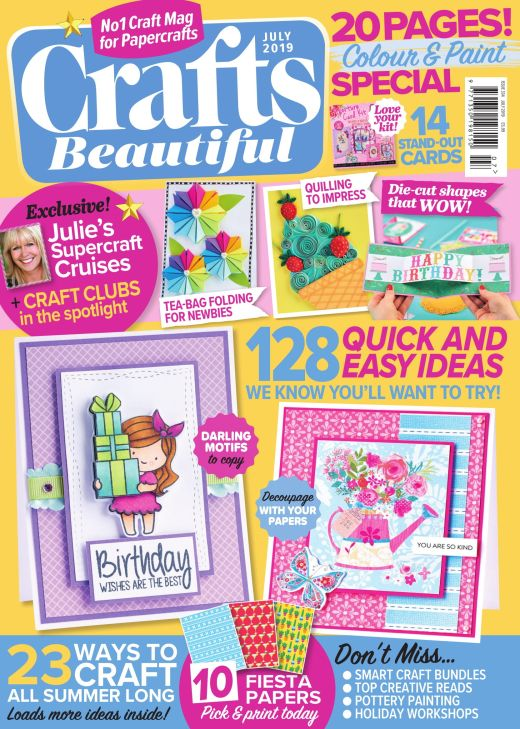 Crafts Beautiful July 2019 Issue 334 Template Pack