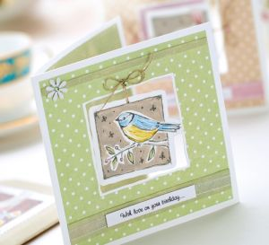 Painted Vintage Bird Motifs