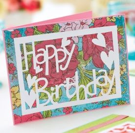 Happy Birthday, Love & Bird Papercutting Templates