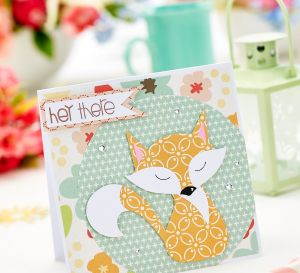 Paper Pieced Fox Card