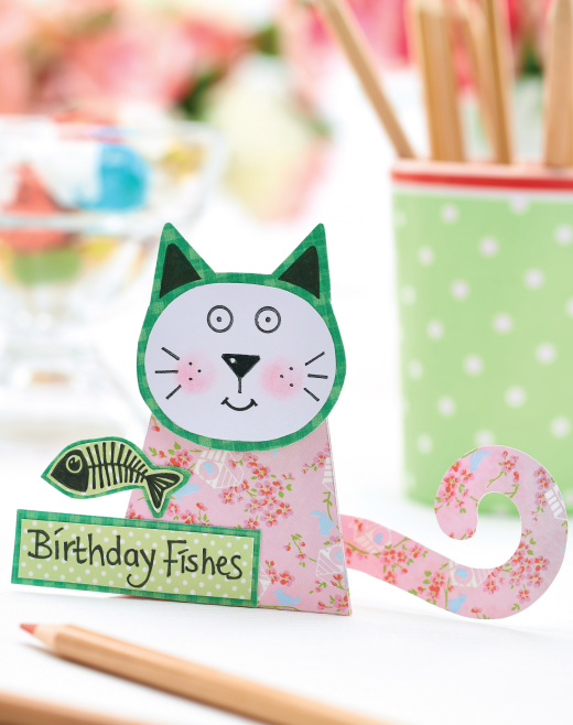 Papercraft cat templates free card making downloads for Card making templates free download