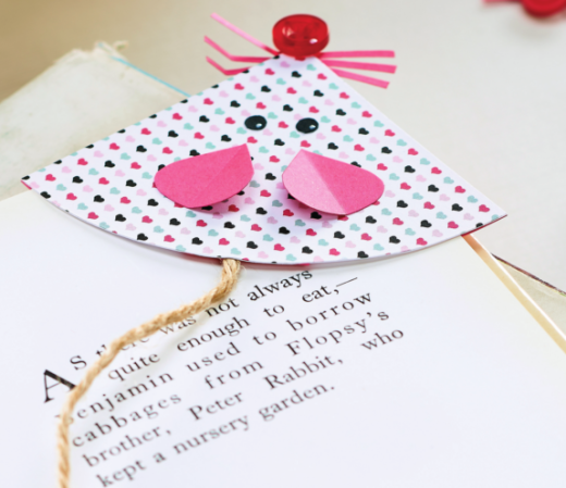 Papercraft Mouse Bookmark Free Craft Project Papercraft Crafts