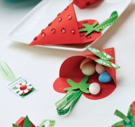 Papercraft Strawberries