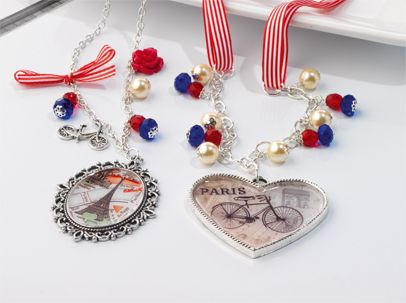 Paris in Spring Oval Necklace