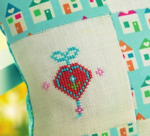 Patchwork And Cross-Stitch Pillow