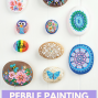 Pebble Painting With Pilot Pintor