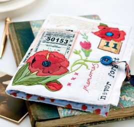Remembrance Poppy Journal
