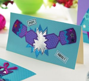 Purple & Turquoise Christmas Cards
