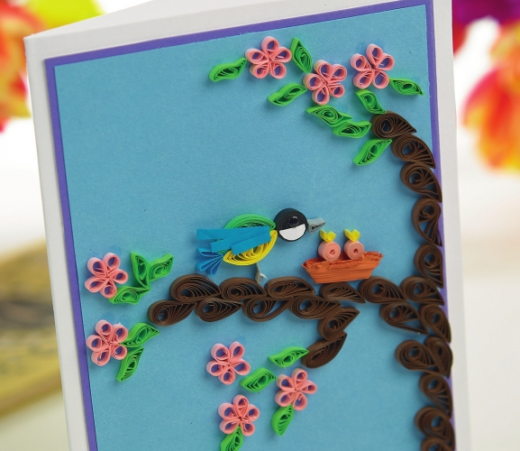 Quill A Bird Ornament And Card Set Free Card Making