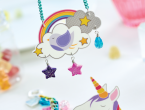 Rainbow & Unicorn Shrink Plastic Jewellery