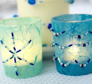 Beaded Candles & Candle Holders