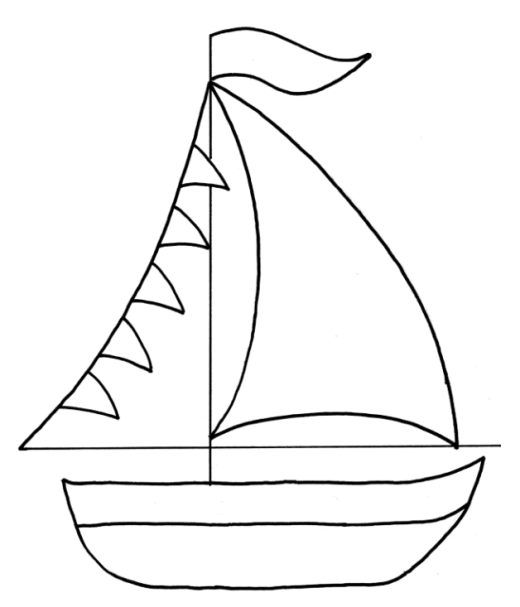 Magic image within boat template printable