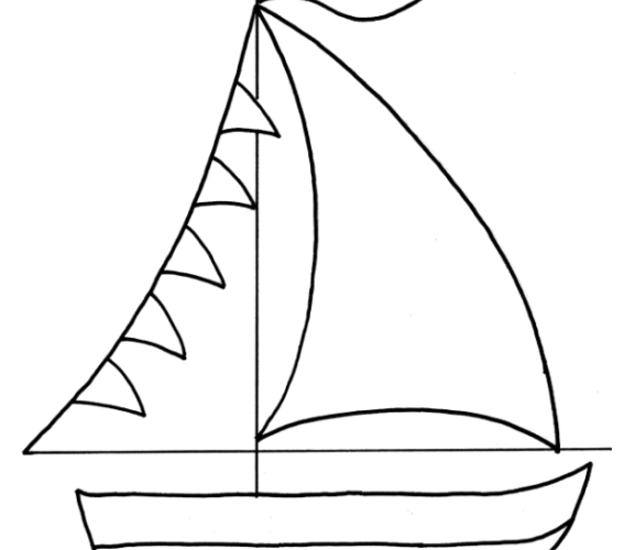 Vibrant image for sailboat template printable