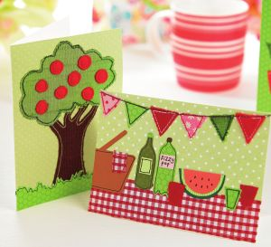 Sew a summery card