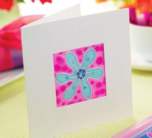 Silk Painting Card