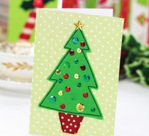 Simple stitched Christmas cards