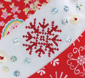 Snowflake Cross-Stitch Stocking