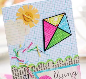 Spring-Themed Greetings With Book Page Embellishments