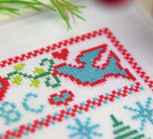 Stitch A Sampler Christmas Gift