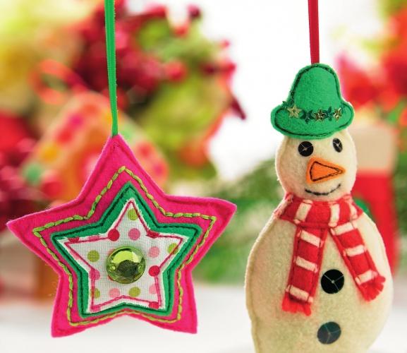 Stitch Festive Christmas Decorations - Free Card Making ...