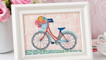 Stitched Bicycle Sampler Project