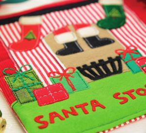 Stitched Santa Sign And Card
