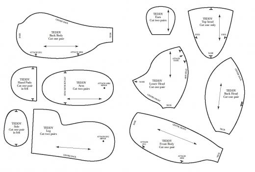 Teddy Bear Sewing Patterns Free Printables
