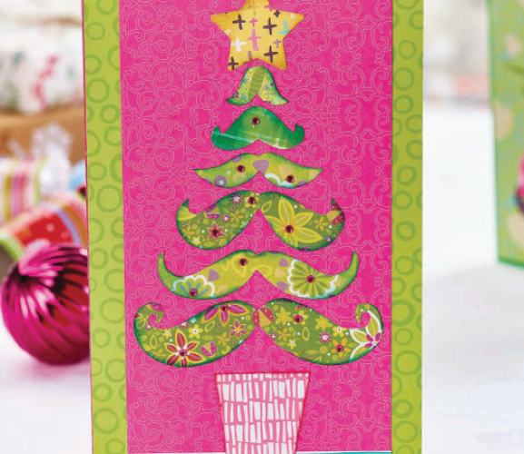 Fun and Festive Moustache Cards