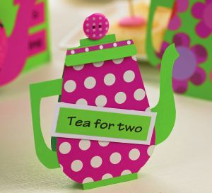 Trio Of Bright Cards For A Tea Party