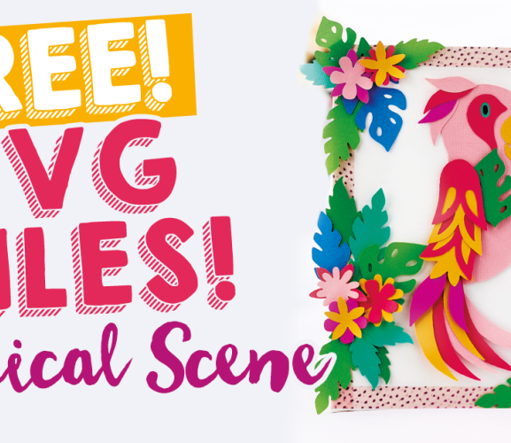 FREE SVG Files! Tropical Scene