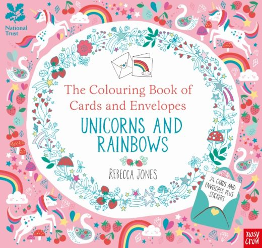 The Colouring Book of Cards & Envelopes: Unicorns & Rainbows Download