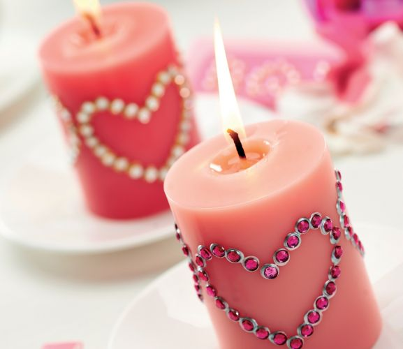 Valentine Candle Heart
