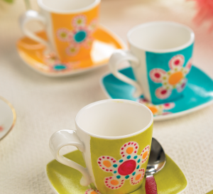 Vibrant Hand-Painted Crockery