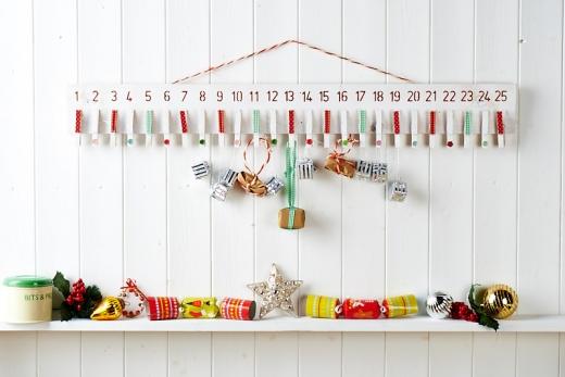 Wooden Peg Advent Calendar Free Craft Project More