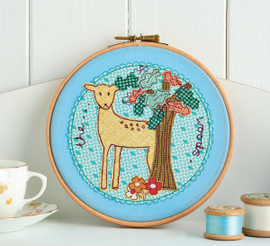 Woodland Hoop Art