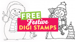 Your Two FREE Snowman Digi Stamps