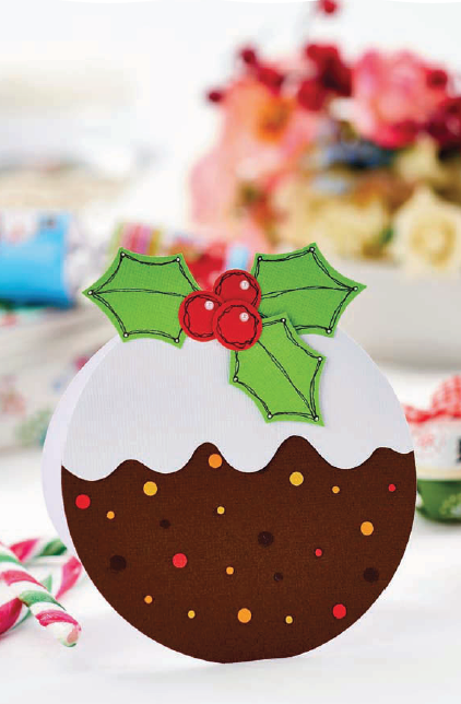 easy christmas pudding card - free craft project  u2013 papercrafting