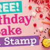 Free Birthday Cake Digi Stamp