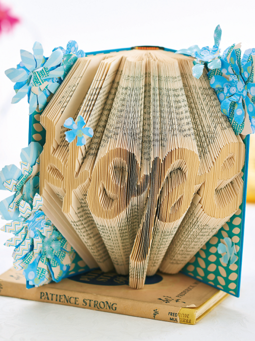 Folded book art free craft project crafts beautiful for Paper folding art projects