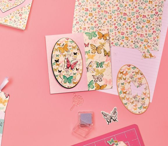 docrafts Papermania Butterfly Dreams Cards