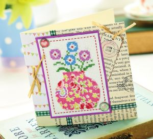 Floral Cross Stitch Card