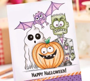 Colour a Spooky Halloween Card